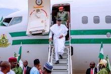 President Muhammadu Buhari arriving Nigeria