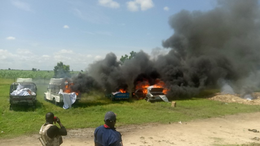Military burns down 4 trucks loaded with fish sold by Boko Haram