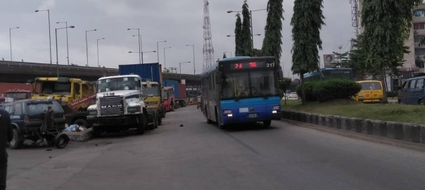 Impounded vehicles by LASTMA parked at Iponri Bus Stop Surulere, Lagos. Aug. 28, 2019 (NAN)