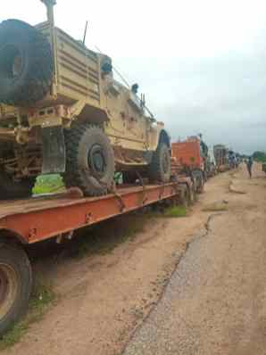 Military equipment seized by the Nigerian Soldiers