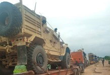 Nigeria Hands Over Intercepted Mine Resistant Military Vehicles To America