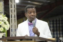 Pastor E.A Adeboye at the 2019 RCCG of Holy Ghost Congress (Photo Credit: Segun Komolafe)