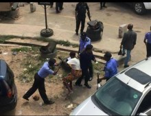 Woman brutalised by police over RevolutionNow protest