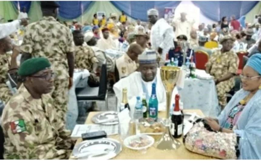Army chief leading Boko Haram war throws lavish party.