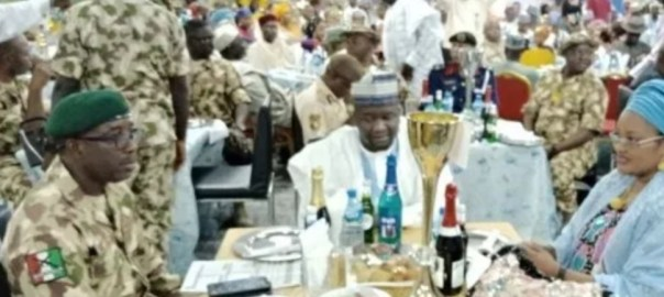 Army chief leading Boko Haram war throws lavish party.