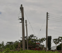Electric poles and a transformer...of no use.