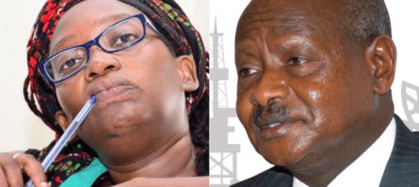 Ugandan activist Stella Nyanzi and president Yoweri Museveni [Photo: allafrica.com]