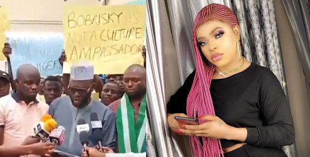 Anti Bobrisky protest Image by tribuneonlineng