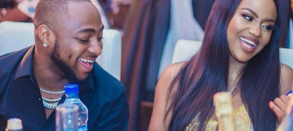 Davido and Chef Chioma Rowland [Photo: Pulse.ng]