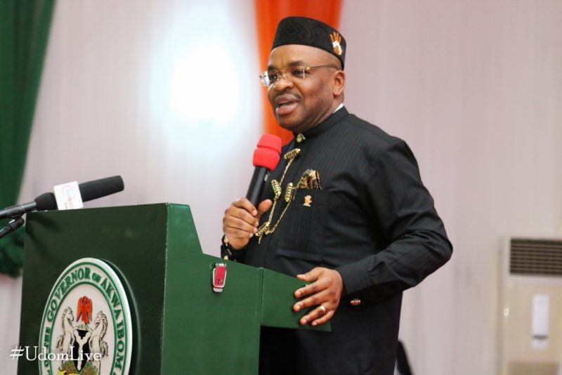 Governor Udom Emmanuel at the maiden Akwa Ibom Education Summit