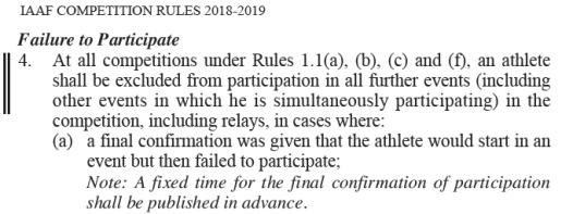 IAAF RULE