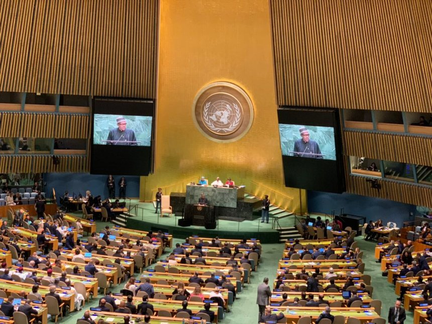 The United Nations General Assembly (Photo Credit: Bashir Ahmad on Twitter)