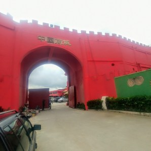 The entrance to China Business City, the Chinatown in Lagos, where predominantly Chinese-run businesses are frequented by both locals and Chinese nationals. Credit: Samuel Ogundipe / Premium Times
