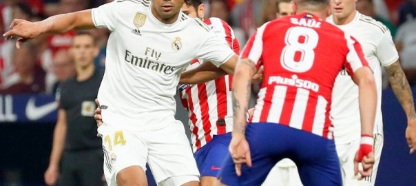 Match between Real Madrid v Atletico Madrid