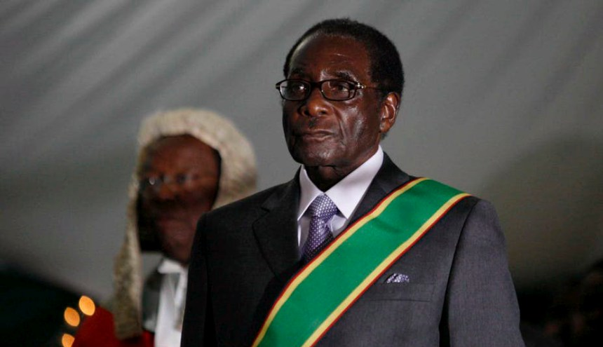 Robert Mugabe during his swearing-in ceremony in Harare, 2008. The former Zimbabwean president has died aged 95. [Photo: The Conversation - EPA-EFE]