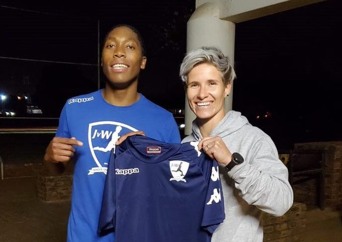 Multiple gold medallist and 800m and 1500m World Champion, Caster Semenya