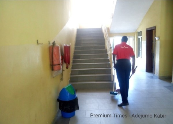 Staircase leading to courtrooms in Ikorodu court