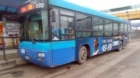 Bus at venue where Tiwa Savage is performing