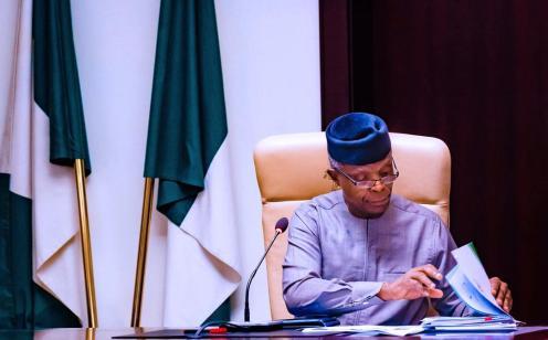 Nigeria's Vice President, Yemi Osinbajo. [PHOTO CREDIT: Osinbajo's official twitter account]