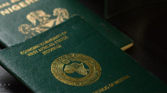 Nigerian e-passport. [PHOTO CREDIT: BBC]