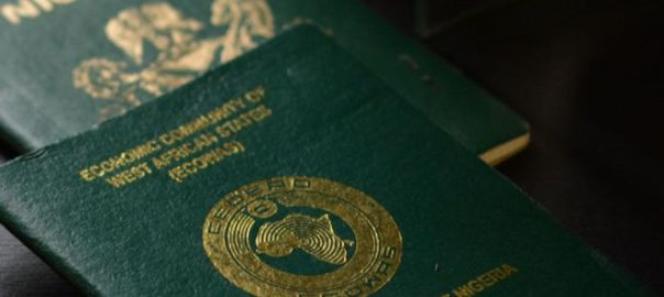 Nigerian e-passport. [PHOTO CREDIT: BBC]