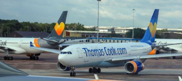 A Thomas Cook airplane [Photo: Sky News]