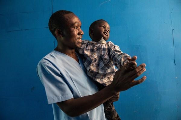 Kasereka Miyisa Jophet is an Ebola survivor. (Credit: UNEERO/Martine Perret)