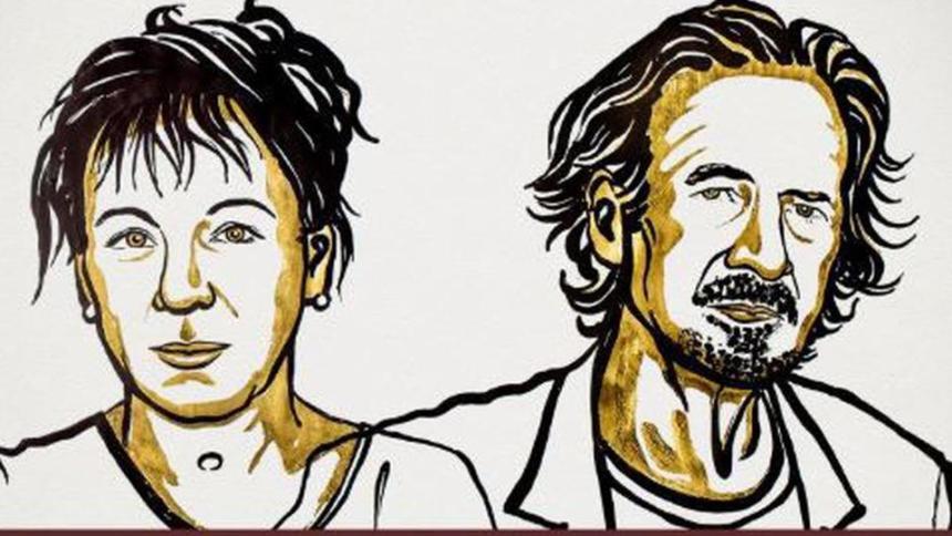 Olga Tokarczuk AND Peter Handke [PHOTO CREDIT: TRT World]