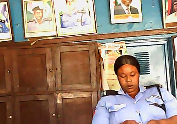 Policewoman Angelina Abubakar... collected N1,000 bribe but declared only N500 to her boss.