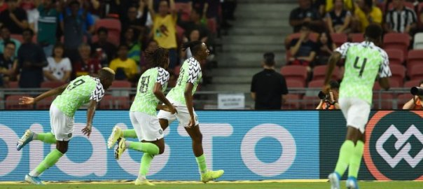Joe Aribo scored his second goal in two games as the Super Eagles