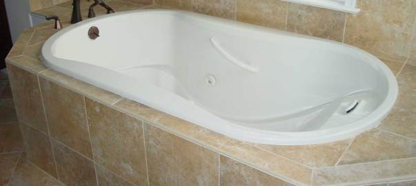 A bathtub used to illustrate the story
