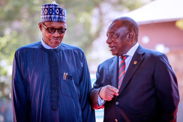 Buhari and Ramaphosa 1 - Buhari urges South Africa to open up its economic space to Nigerian businesses