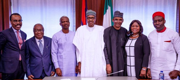 President Buhari meets with Members of Economic Advisory Council in State House on 9th Oct 2019[PHOTO CREDIT: Femi Adesina Facebook account]