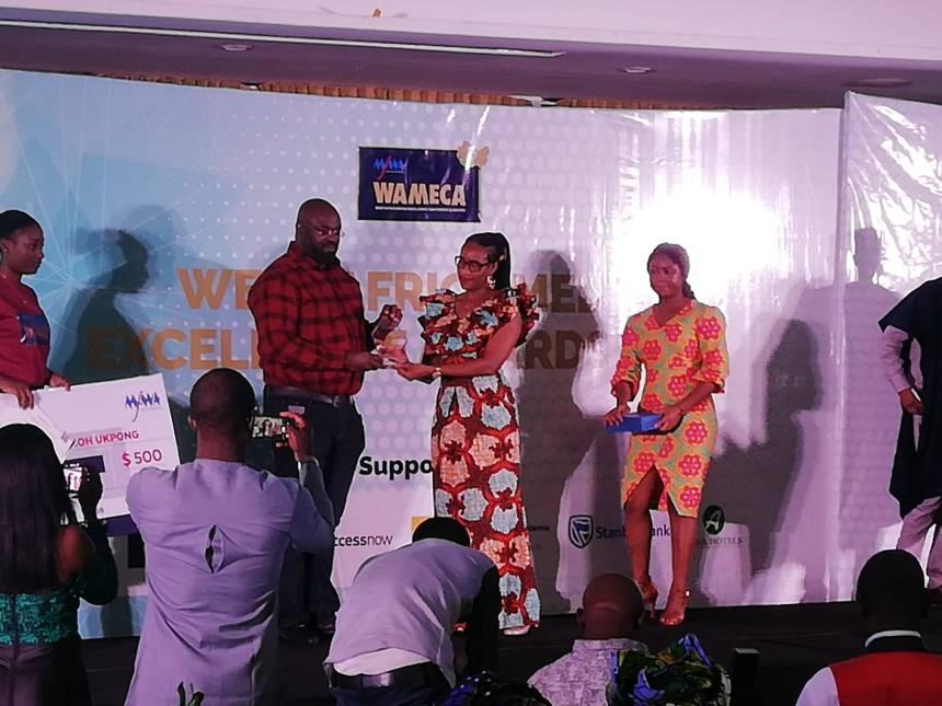 Cletus Ukpong receiving his award