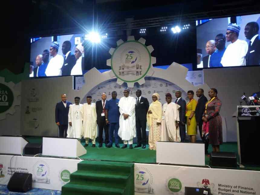 President Buhari, NESG Chairman, Minister of Finance,State Minister of Finance