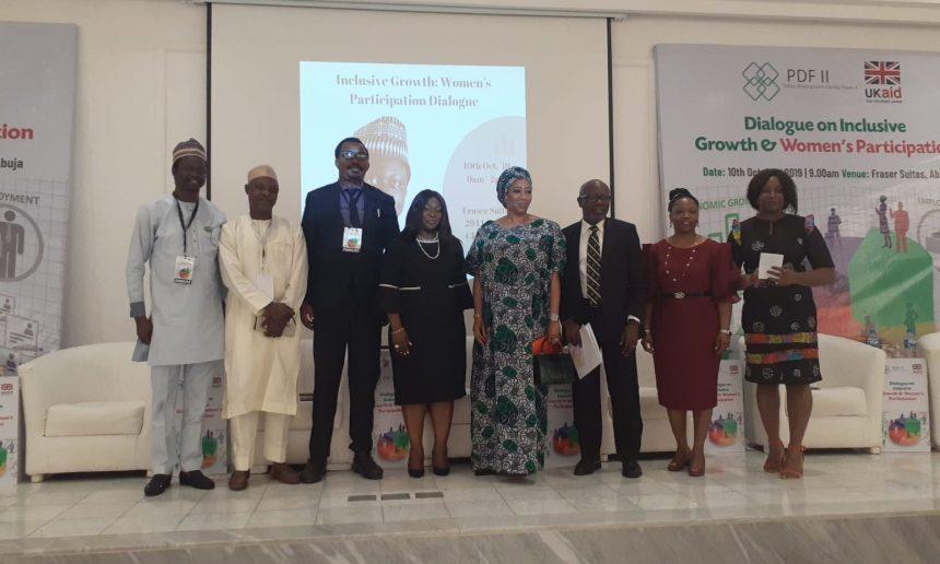 Right to Left: Simon Karu, Magaji Bala, Folarin Aluko(NBA) Chairman Abuja, Chioma Agwu and other panelist at the event