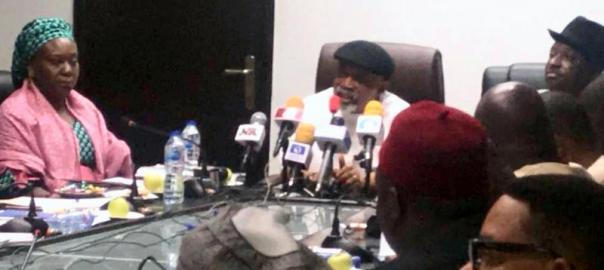 Minister of Labour, Chris Ngige at the FG, Labour negotiation on the minimum wage