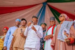 Yemi Osinbajo and other APC leaders at Kogi State for governorship campaign flag off. Story in newsroom.