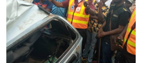 Scene of accident in Onitsha