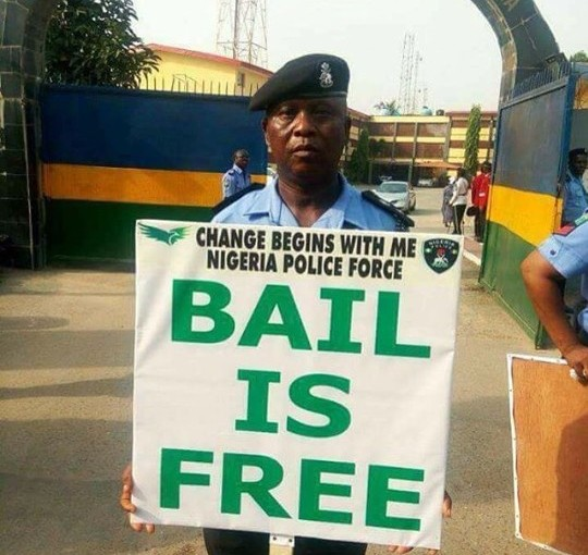 Police- Bail is free