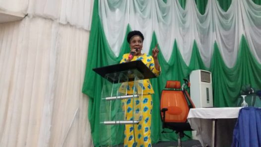 Adebimpe Adebiyi delivers keynote address for the Health Minister, Osagie Ehanire