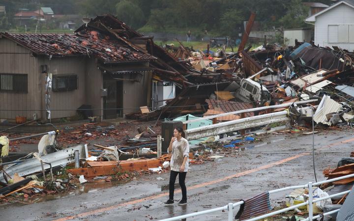 Typhoon kills 8, causes flooding, landslides across Japan
