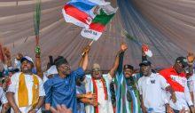 Kogi State Governor, Yahaya Bello campaigns
