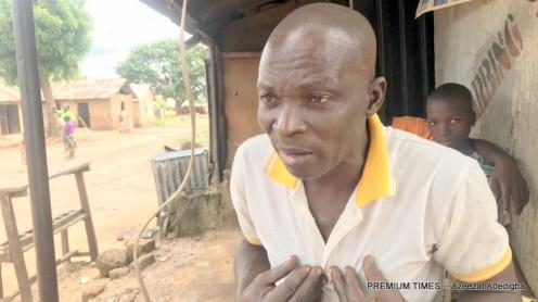 Baba Audu explaining the sufferings of women and children in Gasaki community.