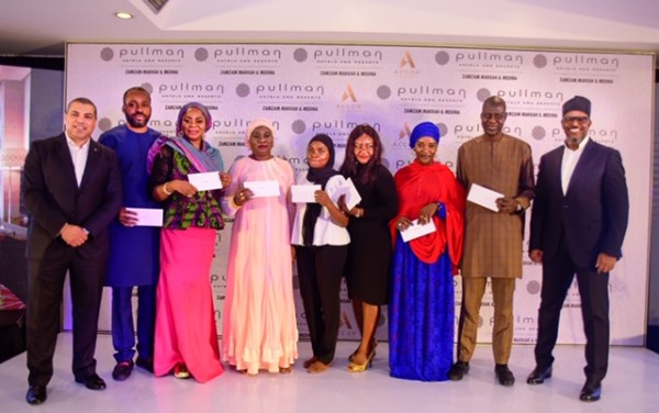 Across section of Zamzam Pullman Hotel Representatives and winners of the Complimentary Stay at the Zamzam Pullman Hotel during the Hajj Operators Engagement in Abuja
