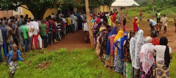 8:57am: Voting commences at Olofu Polling Unit 012, Ayingba Ward.