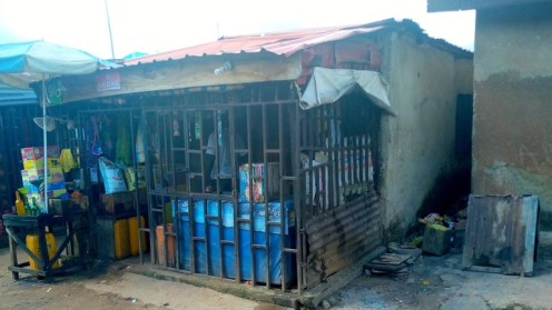 Aliyu's former tea shop has been converted to a provision store (1)