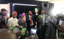 Minister of Youth and Sports Developer, Sunday Dare launching the National Youth Policy