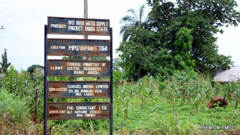 Signage for Ivo water supply project