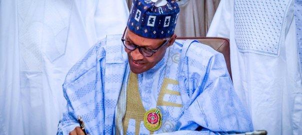 President Muhammadu Buhari signing 2020 budget